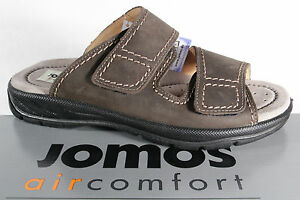 Jomos Men's Mules Sandal Sandals Real Leather Braun Leather New