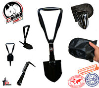 "D-Rhino Folding Shovel 18"" Camping Garden Military Style Survival Multi w/ Case"