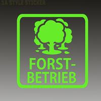 Forst Betrieb  Aufkleber Forst Aufkleber Mäharbeiten Förster Aufkleber Säge kw