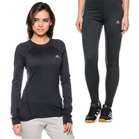 adidas Baselayer Wool Set Damen Shirt Leggings Langarmshirt Funktionswäsche Hose