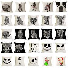 17''Animal Print Linen/cotton Cushion Cover Pillow Cases Pillowcase  Home Decor