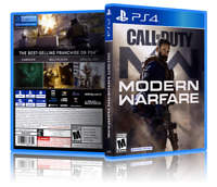 Call Of Duty: Modern Warfare - Replacement PS4 Cover and Case. NO GAME!!