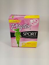 Sport Playtex Unscented Plastic Tampons REGULAR, 18 Count (8 Pack)