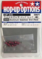 Estabilizador de Aluminio Tamiya 53645 extremo (Rojo) (TRF416/TRF415/TRF417) nuevo en paquete