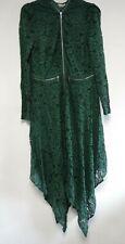 ASOS TALL Lace Hanky Hem Zip Detail Midi Dress Green Size UK 20 NH003 DD 05