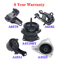 K491 Fit 2001-2002 Acura MDX 3.5L Motor /& Transmission Mount Full Set 5PCS
