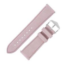 Hirsch OSIRIS Limited Edition Calf Leather Nubuck Effect Watch Strap in ROSE