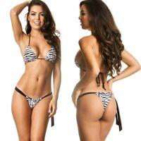 COQUETA sexy brazilian bikini tie side minimal woman swimsuit beach thong cheeky