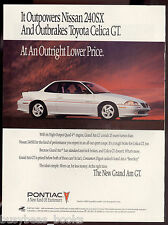 1992 PONTIAC GRAND AM advertisement, white 2-door Grand Am GT