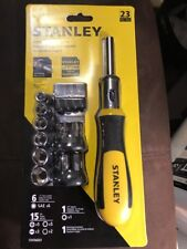 Stanley Ratcheting Screwdriver Set with Bits Sockets 076174665079
