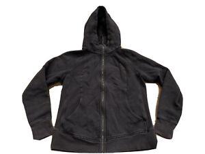 Lululemon Athletica Scuba Black Full Zip Hoodie Jacket Womens Size 12 Coat