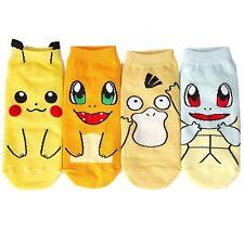 Pokemon Socks Pikachu Squirtle Merch Nintendo Ankle Trainer Boat Women Kids