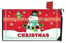 Merry Christmas Pals Magnetic Mailbox Cover Snowman Bird Standard Briarwood Lane