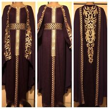 jalabiya maxi dress abaya Moroccan farasha kaftan LARGE  UK SIZE 16/18