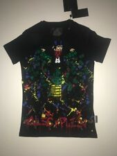 "Philipp Plein T-shirt Round Neck size XXXL SS ""MONOPOLI AL"" Color Black"
