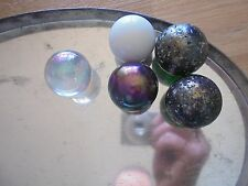 Used lot of 5 x 36mm marbles_Woah!_ships from Aus!_xx79_Y1_y21