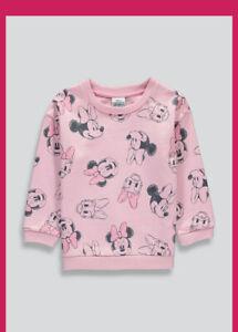 Baby Girls Disney Minnie Mouse Sweatshirt 9 -12 Months