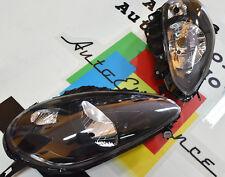 FARI ANTERIORI NERI FIAT PUNTO EVO 2009-2011 DESIGN ABARTH H4 FANALI SPORTIVI -