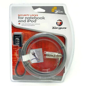 Targus Defcon Security Locks For Notebook And iPod Combo Set Includes Two Locks