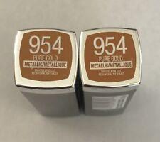 (2) Maybelline Colorsensational Metallic Lipstick, 954 Pure Gold