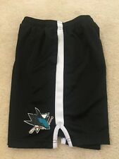 Youth NHL Sj San Jose Sharks athletic shorts size Reebok Black with pockets
