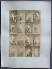 Louis IGOUT Nus Académiques Calavas circa 1875 tirage albuminé 16 Femmes #7