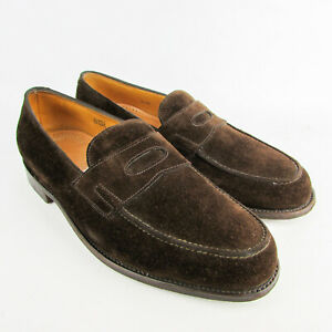 John Lobb Lopez Mens Brown Suede Leather Loafers UK 8 E RRP£1015