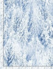 Christmas Fabric | Timeless Treasures Winter Forest Snowy Pine Tree | Yard