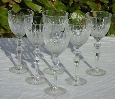 Cristallerie de Lorraine Service 6 verres vin rouge en cristal modèle Charlotte