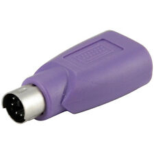 Purple PS2 PS/2 Male to USB A Femael Jack Keyboard Mouse Adapter Plug Converter