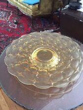 Vintage Tiara Constellation Amber Pedestal Cake Plate