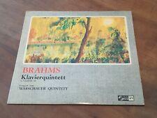 Brahms Piano Quintet WLADYSLAW SZPILMAN CONCERT HALL TURICAPHON LP SMS-2466 NM