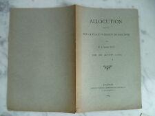 Allocution sur la place publique de Maillane par M. le Chanoine MILLE, 1884
