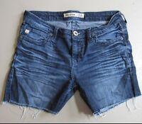 Big Star Maddie Jean Shorts Size 28 Jorts Cut-offs Distressed Blue Denim