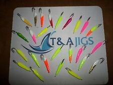T&A Jigs Crazy Wacky Goofy Pompano Jigs 1/4 oz 25 jigs Mixed Colors lot of 25