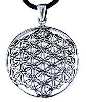 95 Blume des Lebens Anhänger 925 Silber mit Silberkette Flower of Life Harmonie