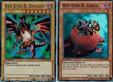 Red-Eyes B. Dragon + Red-Eyes B. Chick 1st Lcjw Mint English yugioh Cards