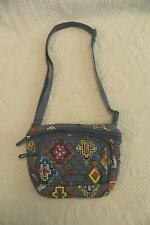 Vera Bradley Women's RFID Belt Bag With Charger Pocket SC4 Blue Medallion Print