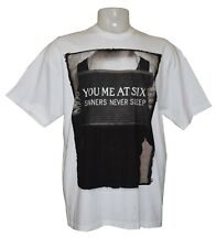 You me at six t-shirt sinners never sleep white extra large 100% cotton unisex