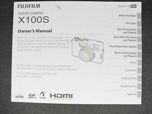 Fuji Fujifilm Genuine X100S Camera Instruction Book / Manual / User Guide