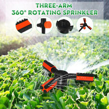 360° Auto Rotating 3 Outlet Garden Watering Lawn Sprinkler Irrigation System