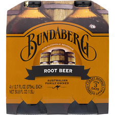 Bundaberg Root Beer Non Alcoholic Beverage 4 x 12.7 FL oz bottles