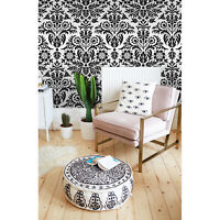 Damask Floral Non-woven wallpaper black and white Home wall mural large