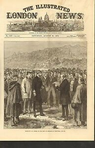 #01-0104 8/19/1874 ANTIQUE PRINT (ICELAND) - KING OF DENMARK - THINGVALLA