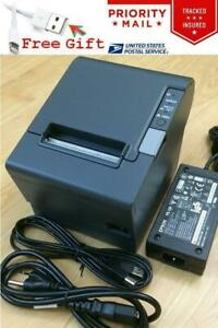 Epson TM-T88IV M129H POS Thermal Receipt Printer USB Port w/ PS-180 Power Supply