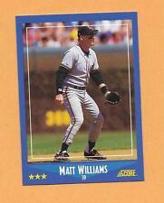 MATT WILLIAMS   ROOKIE SCORE PREMIER EDITION 1988 CARD # 118