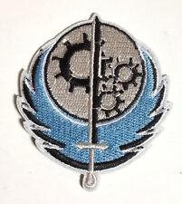 "Fallout Brotherhood of Steel Die Cut Light Blue 3"" Patch- FREE S&H (FOPA-11)"