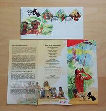 2010 Malaysia Aboriginal People Orang Asli 3v Stamps on FDC (Melaka Cachet)