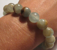 BEAUTIFUL LEMURIA AQUATINE CALCITE NATURAL SOOTHING CRYSTAL BRACELET LEMURIAN