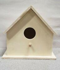 Paintable Wooden Birdhouse